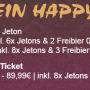 Jeden Donnerstag Happy Day Ticket!